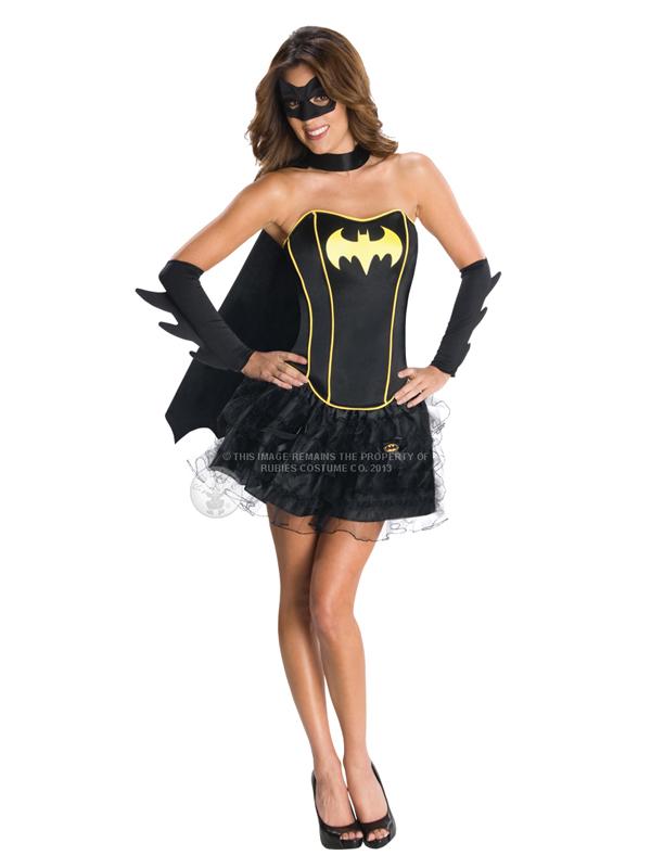 Batgirl Corset And Tutu Ladies Costume