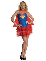Supergirl Corset And Tutu Ladies Costume