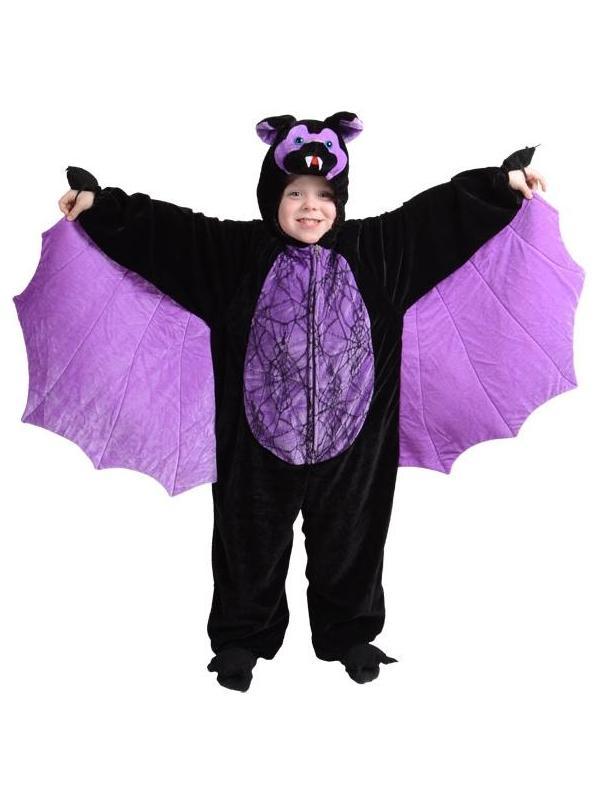 BAMBINO-spaventosa-BAT-Costume-Halloween-V&iro-Per-Bambini-  sc 1 st  eBay & Child Scary Bat Fancy Dress Costume Halloween Vampire Kids Boys ...