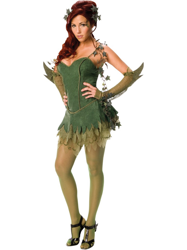 Adult-Poison-Ivy-Fancy-Dress-Batman-Villain-Costume-  sc 1 st  eBay & Adult Poison Ivy Fancy Dress Batman Villain Costume Ladies Womens ...