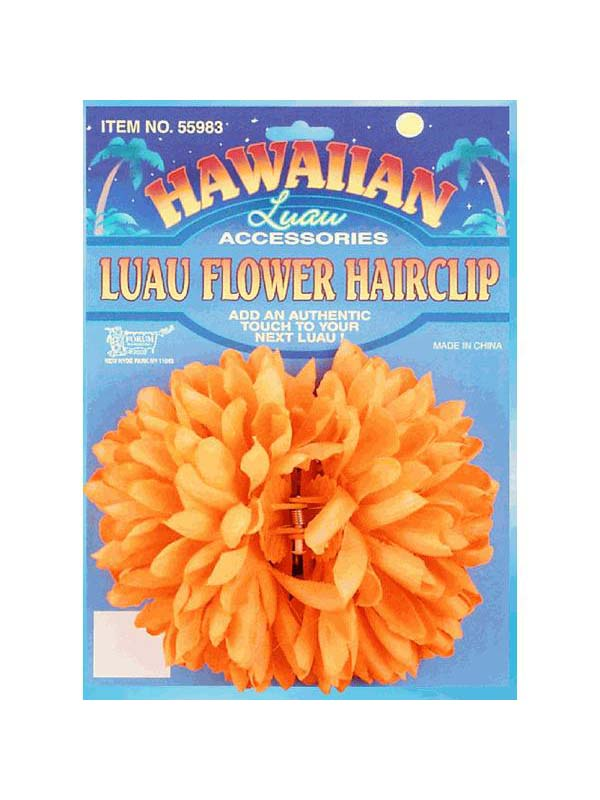 Hawaiian Luau Flower Hair Clip (Various Colours)