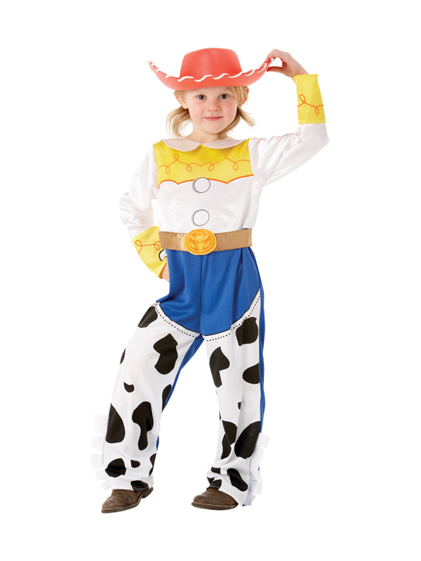 BAMBINO-DISNEY-TOY-STORY-JESSIE-DELUXE-Costume-Cowboy-  sc 1 st  eBay & Child Disney Toy Story Jessie Deluxe Fancy Dress Costume Cowboy Kids ...