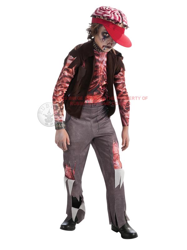 Child Boys Zomboy Zombie Punk Rocker Costume