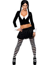 Addams Family Sexy Wednesday Addams Costume