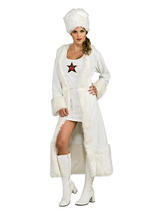 Ladies White Russian Spy Costume
