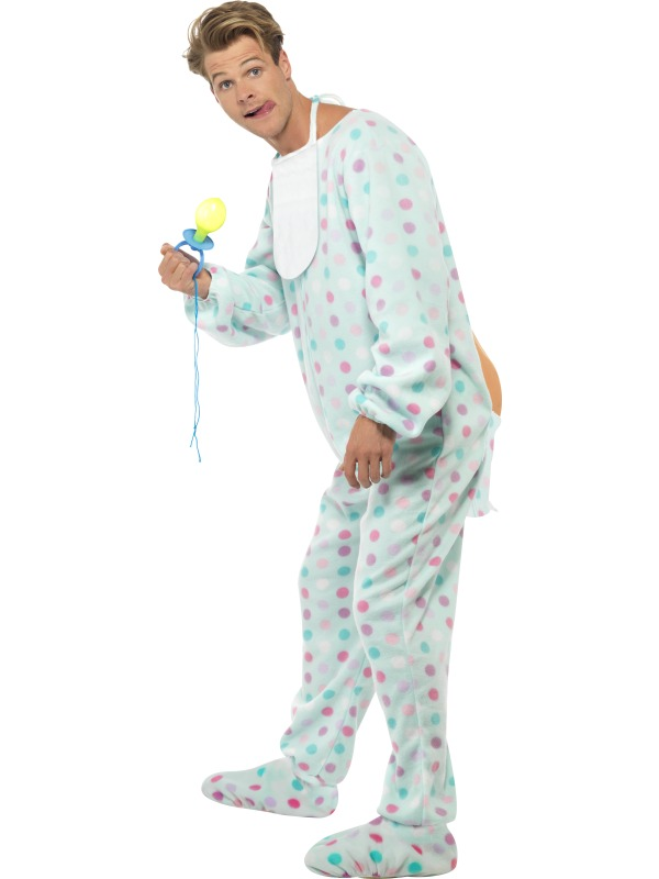 Adult Spotted Baby Jumpsuit | Plymouth Fancy Dress, Costumes and Accessories