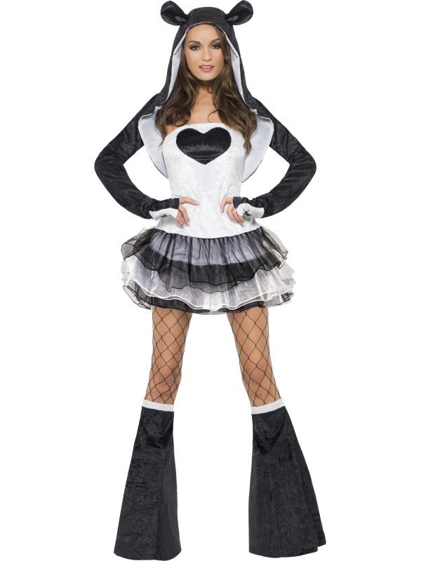 Adult Ladies Sexy Panda Costume Thumbnail 2