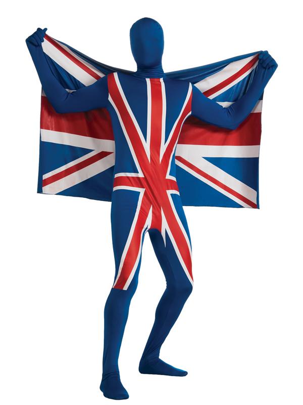 2nd Skin Union Jack Flag Full Body Suit Costume