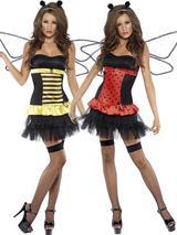 Adult Ladies Reversible Bumble Bee/Lady Bird Costume
