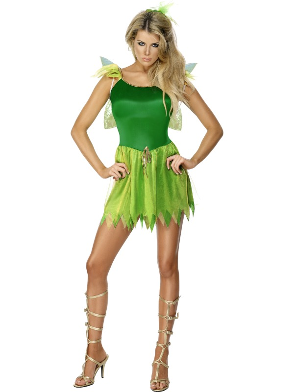 d924cf89cf6 Adult Ladies Woodland Fairy Costume, Green | Plymouth Fancy Dress ...