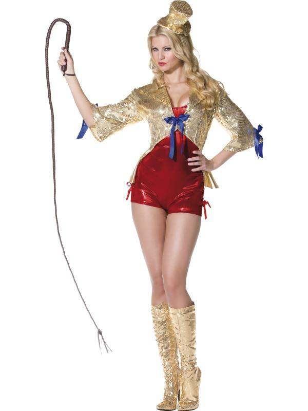 Adult Ladies Sexy Circus Ring Leader Costume Thumbnail 2
