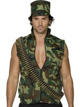 Adult Men's Camouflage Army Guy Costume