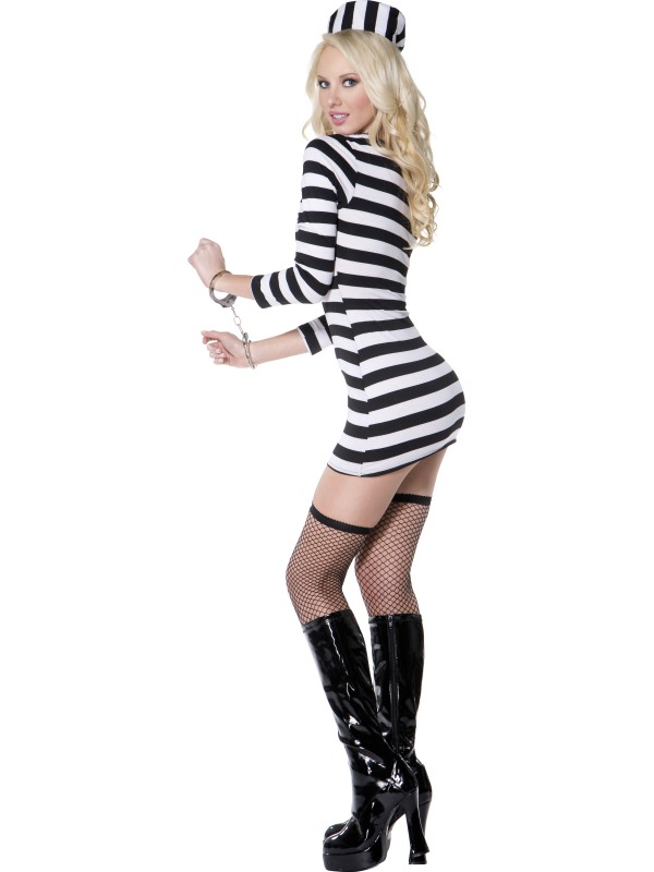 ... Adult Ladies Sexy Striped Convict Costume Thumbnail 3 ...  sc 1 st  Plymouth Fancy Dress! & Adult Ladies Sexy Striped Convict Costume | Plymouth Fancy Dress ...
