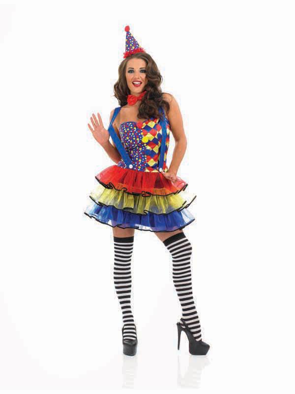 Adult-Ladies-Sexy-Halloween-Cutie-Circus-Clown-Tutu-Womens-Fancy-Dress-Costume