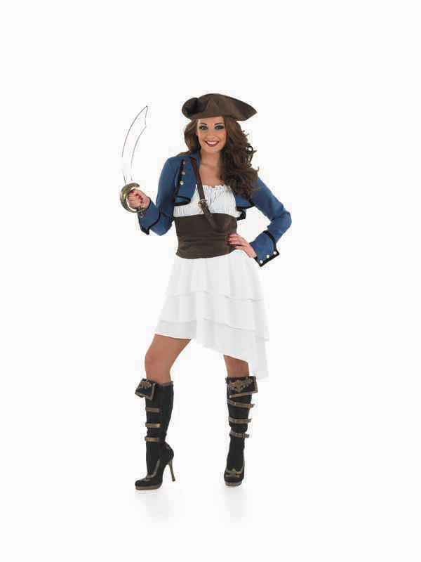 Ladies Pirate Ra Ra Costume