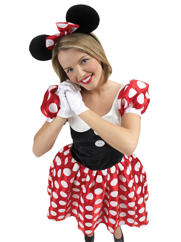 Adult Disney Minnie Mouse Fancy Dress Costume Ladies Women Female BN ...