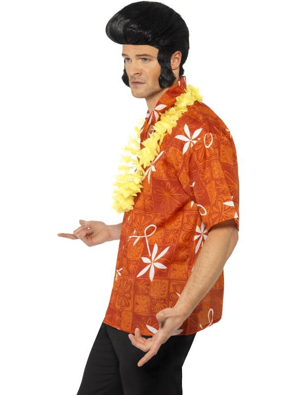 b082c1f039951f Adult Men's Elvis Blue Hawaii Shirt with Lei | Plymouth Fancy Dress ...