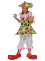 Girl's Spotted Clown Circus Costume