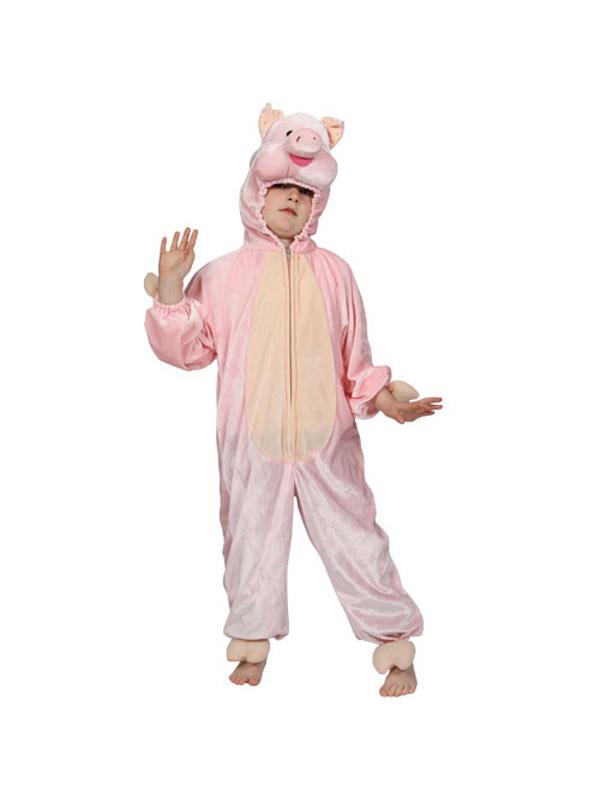 Boy's Pink Pig Jumpsuit Costume