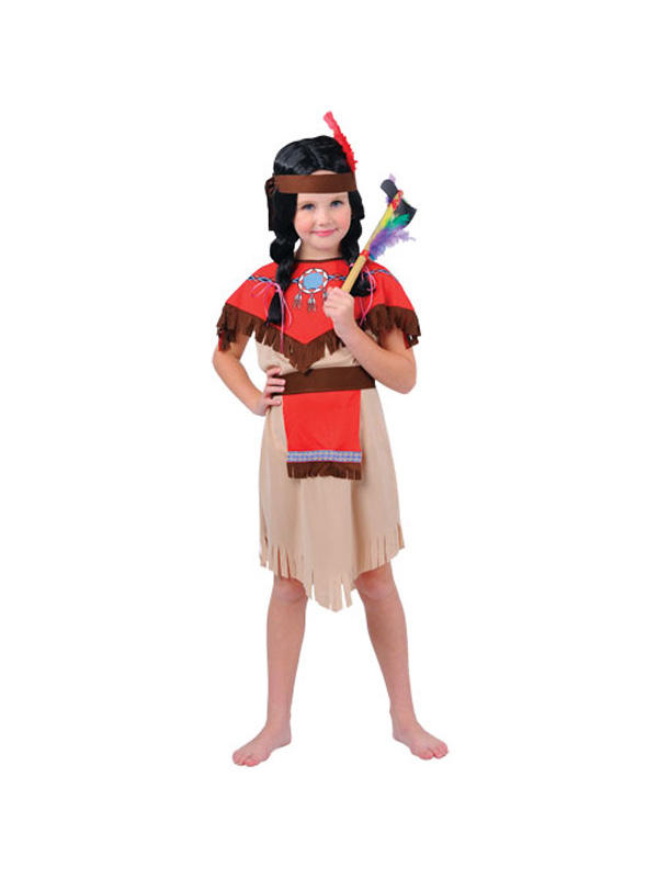 Child Pocahontas Native Indian Girl Costume