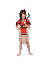 Child Pocahontas Native Indian Girl Costume