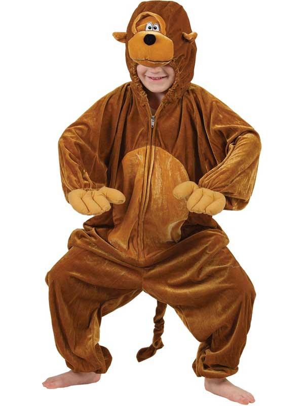 Boy's Monkey Chimp Jumpsuit Costume