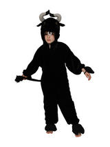 Boy's Black Bull Jumpsuit Costume