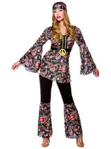 Ladies 1960s Peace Lovin' Hippy Costume