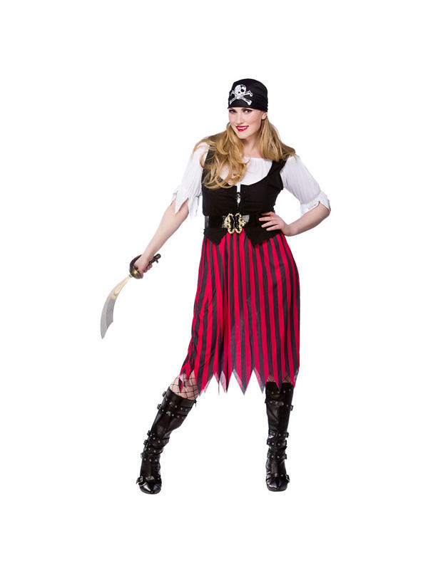 Ladies Caribbean Pirate Wench Costume Thumbnail 2
