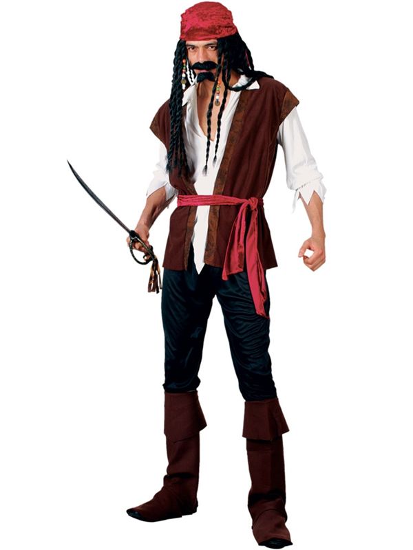 Men's Caribbean Pirate Bandana Costume