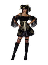 Ladies Glamorous Pirate Woman Costume