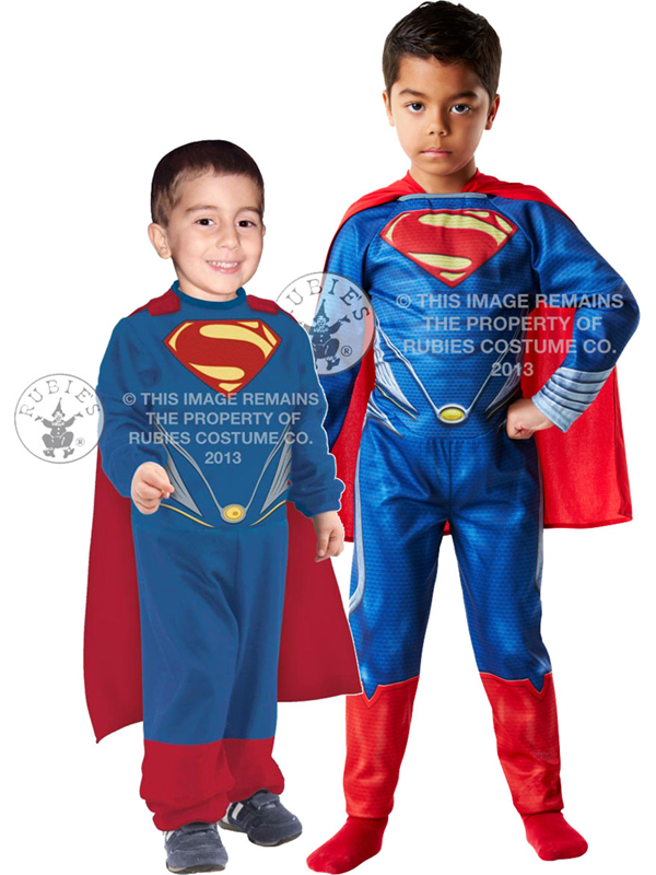 Superman Man Of Steel Boy's Costume