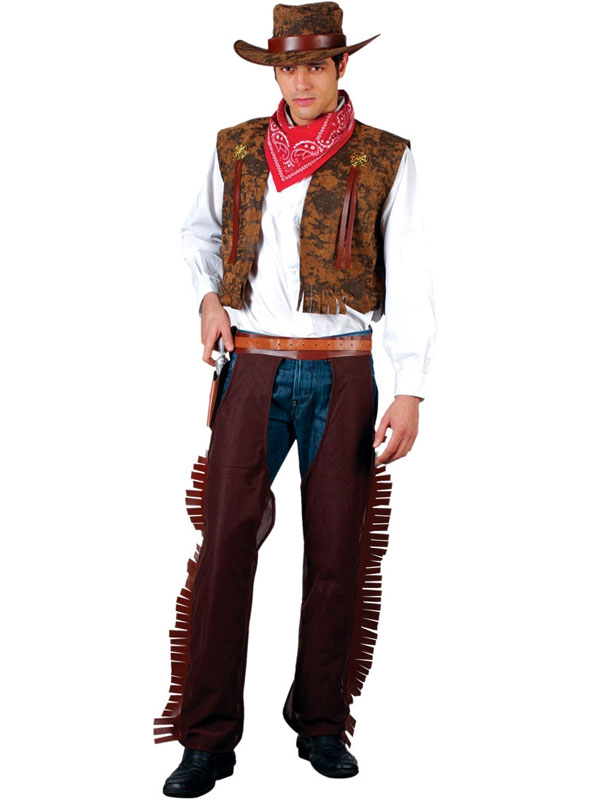 Men's Western Cowboy with Chaps Costume