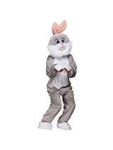 Men's Grey Rabbit Jumpsuit Costume