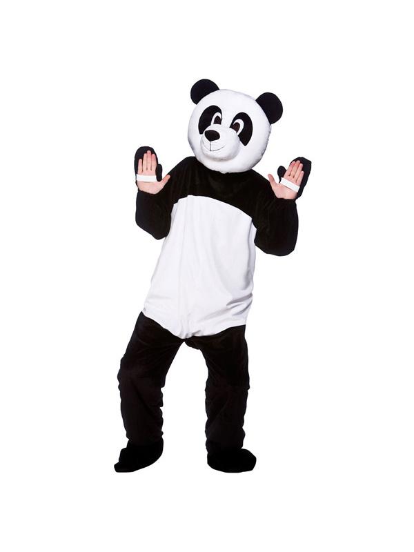 Men's Giant Panda Bear Jumpsuit Costume