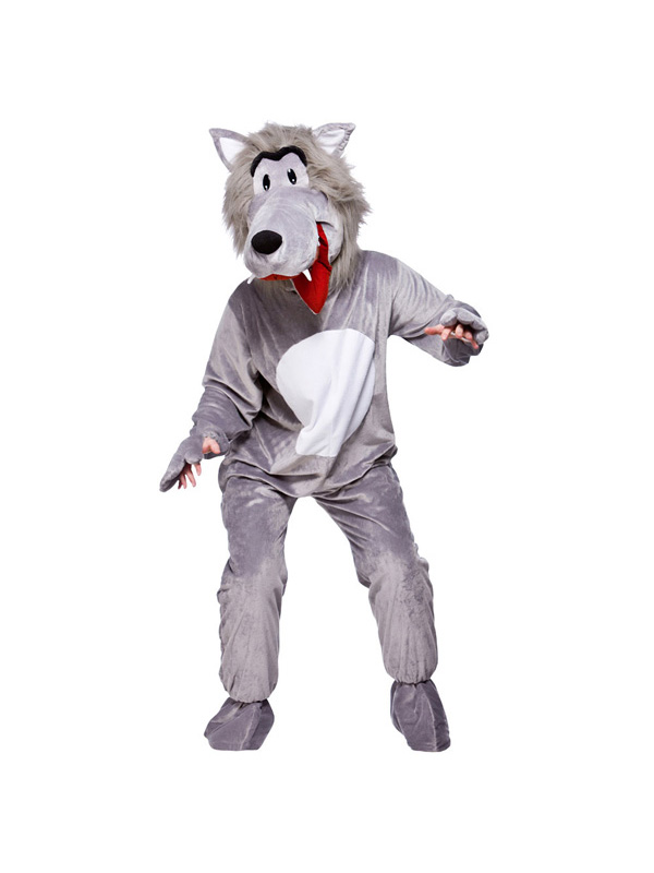 Men's Grey Big Bad Wolf Costume