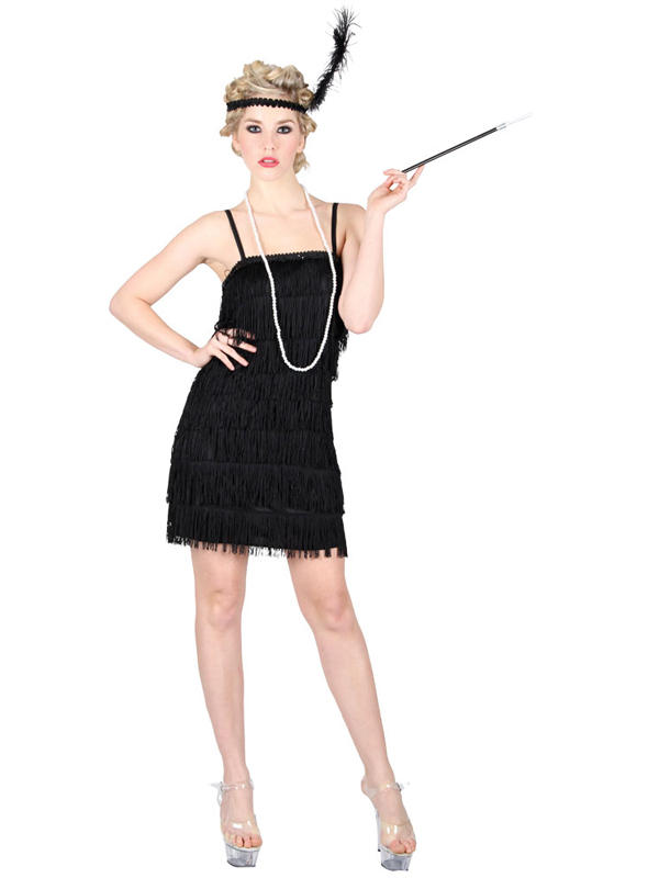 Showtime Flapper Girl Black Costume Thumbnail 1