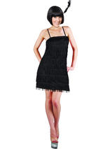 Ladies 1920s Showtime Flapper Girl Costume