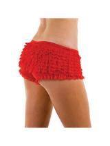 Adult Red Ruffled Pants
