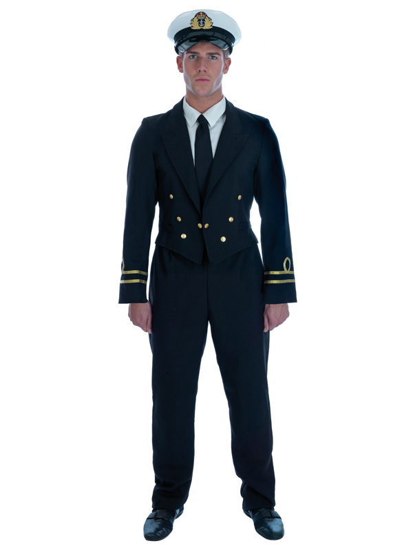 86e155bd7 Men's WW2 Naval Officer Captain Outfit   Armed Forces   Plymouth ...