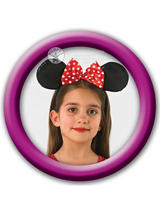 Child Girls Disney Red Minnie Mouse Ears Headband