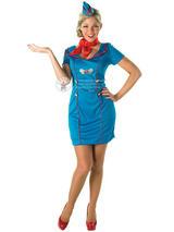 Ladies Air Hostess Mile High Costume