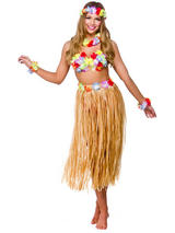 Hawaii Party Girl 5pc Costume