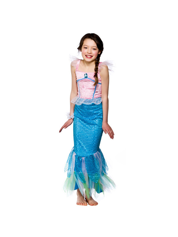 Child-Little-Pink-Mermaid-Outfit-Fancy-Dress-Costume-  sc 1 st  eBay & Child Little Pink Mermaid Outfit Fancy Dress Costume Ariel Kids ...