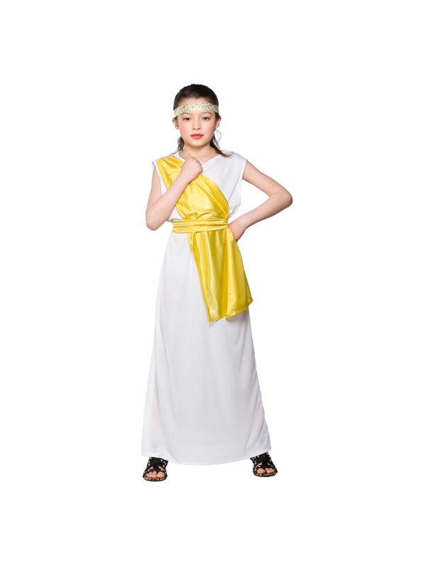 Girls Ancient Greek Girl Costume Fancy Dress Up Party Toga ...