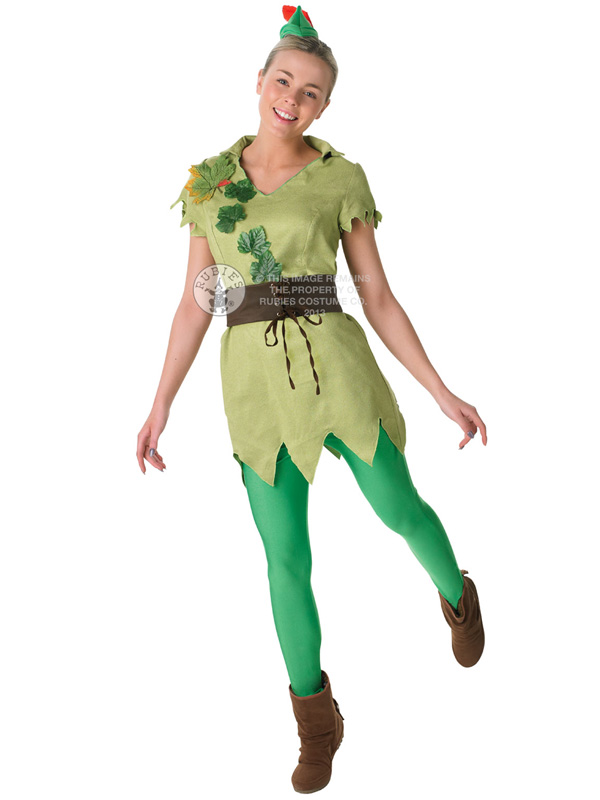 adult disney miss peter pan outfit fancy dress costume. Black Bedroom Furniture Sets. Home Design Ideas