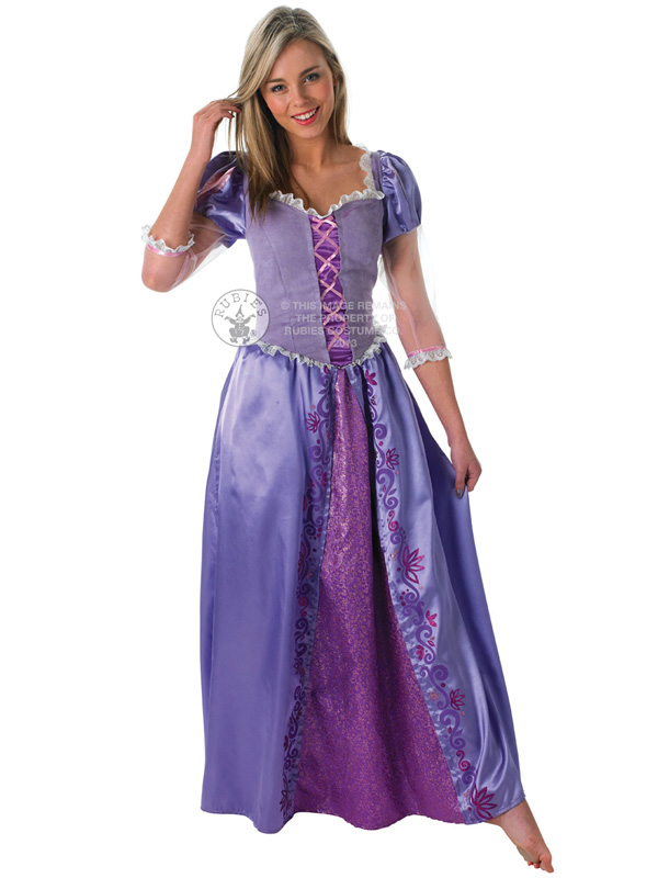 Adult-Disney-Rapunzel-Outfit-Fancy-Dress-Costume-Princess-  sc 1 st  eBay & Adult Disney Rapunzel Outfit Fancy Dress Costume Princess Fairytale ...