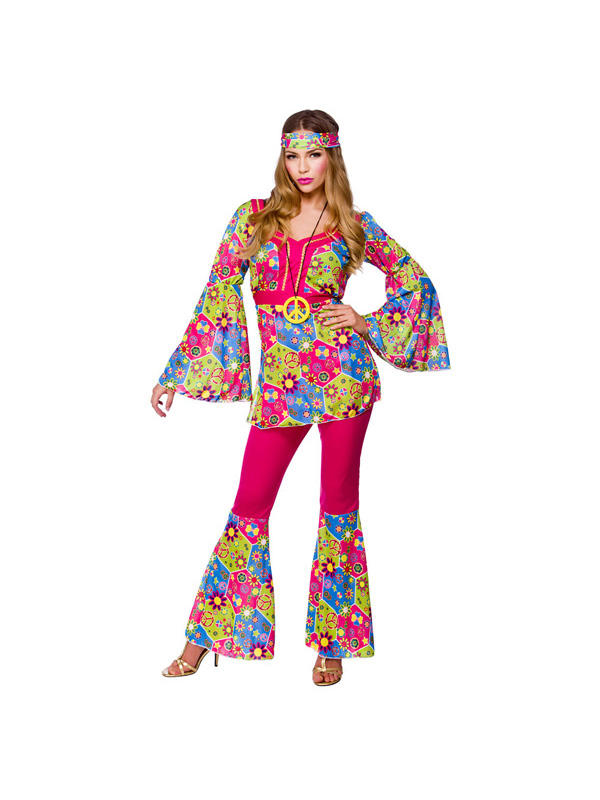 Feelin Groovy Hippy Costume Thumbnail 1