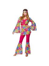 Ladies Feelin' Groovy Hippie Costume