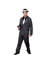 Men's Pinstripe Gangster Wise Guy Costume